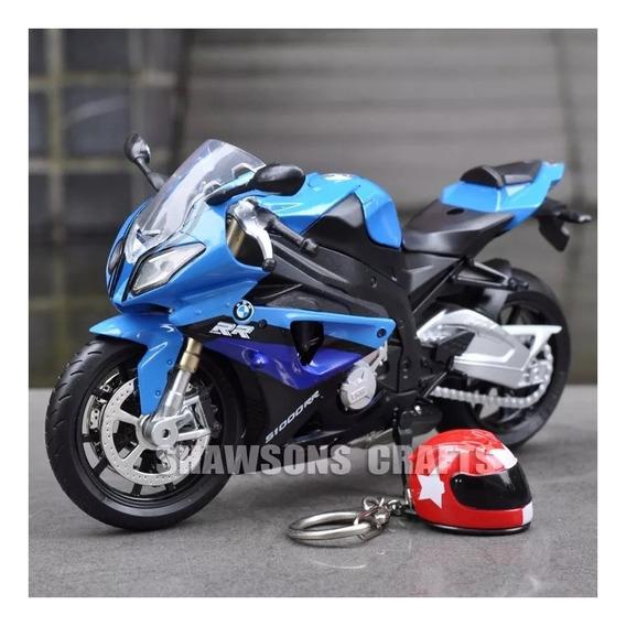 Bmw S1000rr Moto Diecast Mini Coleção 1:12 Ñ Maisto Azul