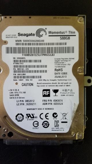 Disco Duro Sata Para Laptos De 500 Gb
