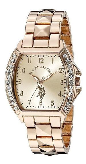 Reloj De Mujer Polo Modelo Cuadrado 40074 Dorado