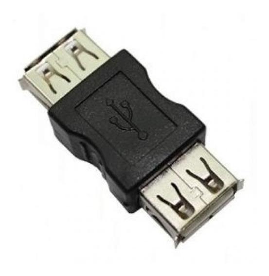Conector Adaptador Usb Femea X Femea Emenda Para Cabo Usb