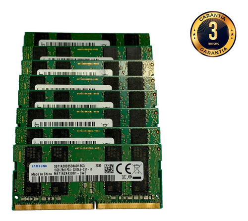 Imagem 1 de 1 de Memoria Notebook Ddr4 Pc4-3200aa 2rx8 16gb Samsung