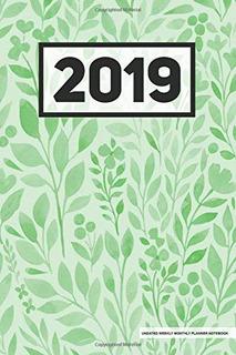 Planificador Semanal Mensual Sin Fecha De 2019 Cuaderno Verd