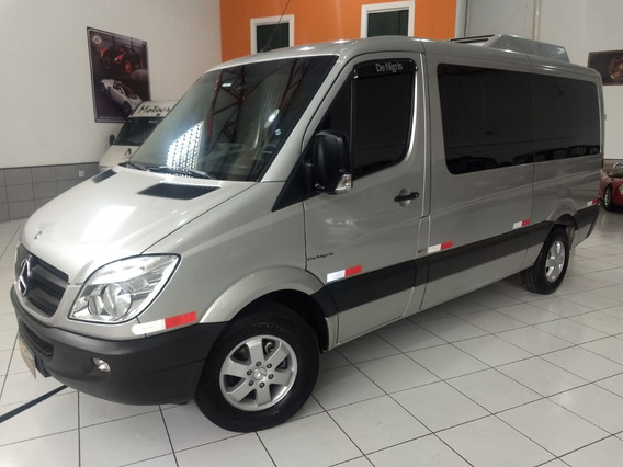 Merc Benz Sprinter Van 415 Deluxe 2014 Prata Ar Teto 42km