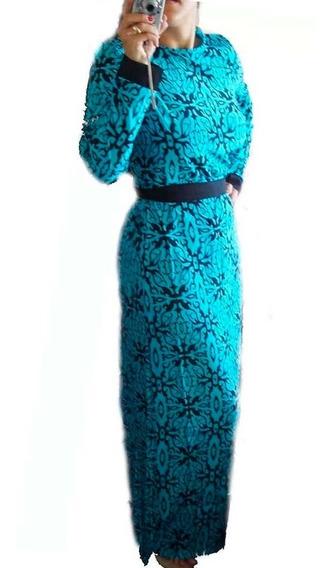 Vestido Feminino Casual Longo Moda Evangélica