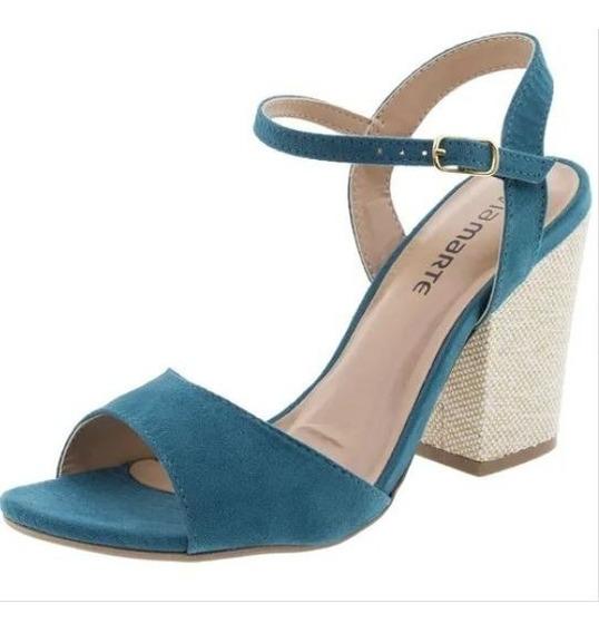 Sandália Feminina Salto Alto Via Marte - 169308 Azul