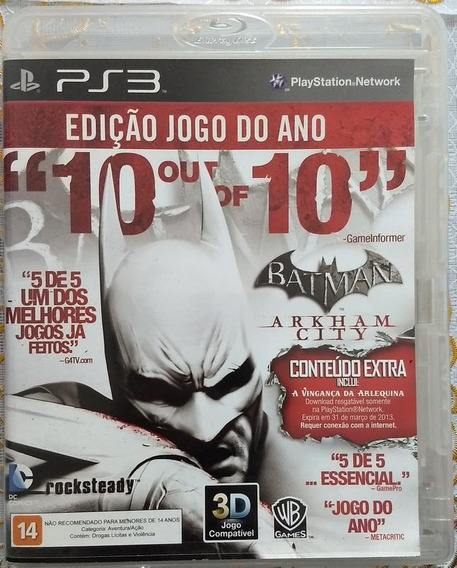 Jogo Ps3 Batman Arkham City