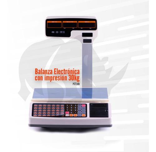 Imagen 1 de 3 de Balanza Digital Con Impresión 30kg