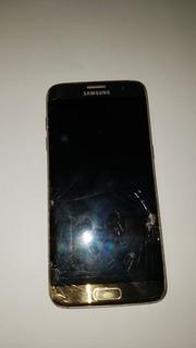 Galaxy S7 Edge Dourado 64gb (tela E Vidro De Trás Quebrado)