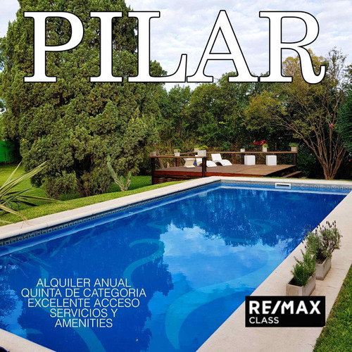 Alquiler Quinta De Lujo Pilar Santa Rosa
