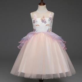 Vestido Fantasia Unicórnio Luxo, Excelente Qualidade + Frete