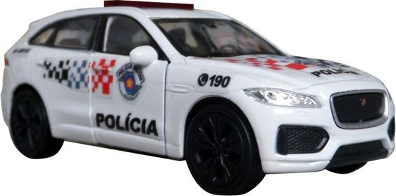 Miniatura Jaguar F-pace Polícia Militar Sp 2019 - Em Metal