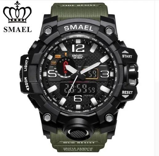 Relógio Smael 1545 Militar Original Pronta Entrega + Caixa