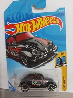 Vw Beetle Preto - 1/64 - Hot Wheels