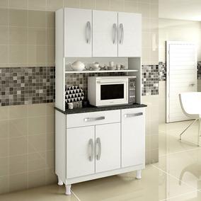 Armário Para Cozinha 6 Portas Lírio Branco - Kaik