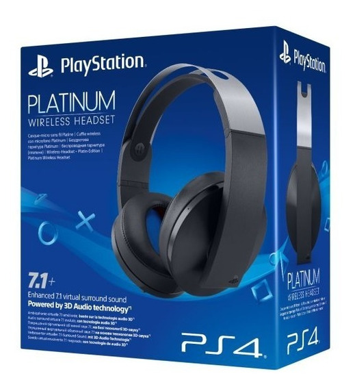 Headset Platinum Wireless Fone S/ Fio Ps4 Sony