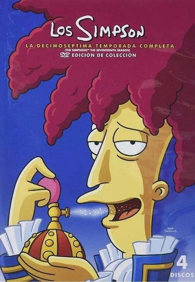 Dvd Os Simpsons 17ª Décima Sétima Temporada Dublado