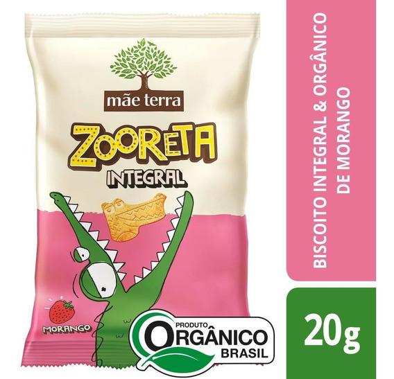 Biscoito Integral Orgânico Morango Mãe Terra Zooreta 20g