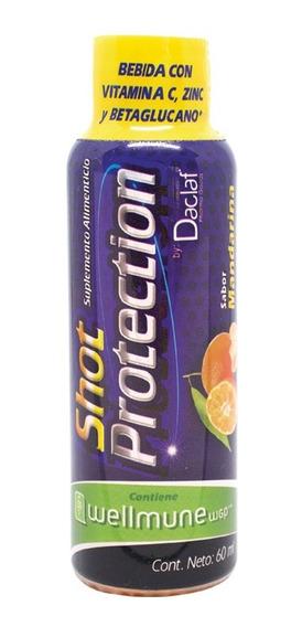 Shot Protection Adulto Vit C+zinc+wellmune 60ml Pack C/6 Fco