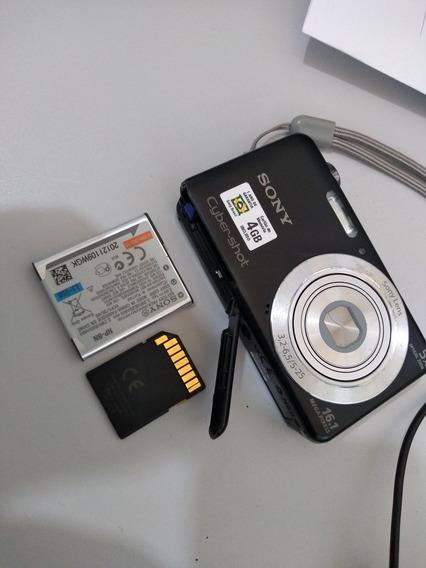 Câmera Fotográfica Sony Cyber-shot 16.1 Mega Pixels