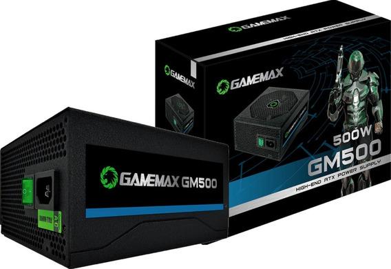 Fonte Gamemax 500w Gm500 80 Plus Bronze Pfc Ativo Com Cabo