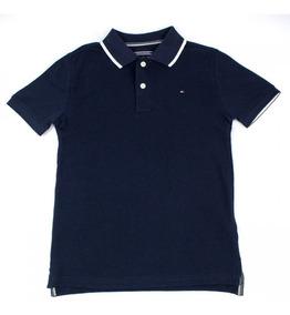 Camisa Polo Infantil Masculina Tommy Hilfiger Estampada