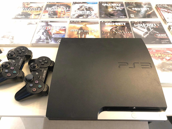 Playstation 3 Slim 160gb + 2 Controles Orig. + 35 Jogos Orig