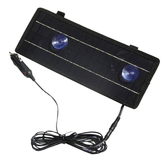 12v / 4.5w Solar Pannel Bateria Carregador Carro Isqueiro +