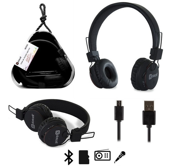 Fone De Ouvido Bluetooth, Radio, Microfone Dotcell Cd-f310