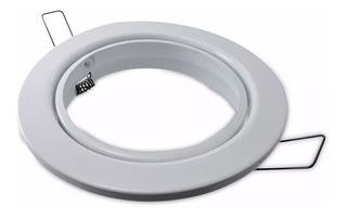 Pack X 6 Spot Embutido Movil Ar111 Led Circular Blanco