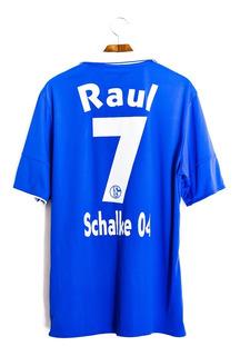 Camisa De Futebol Masculino Schalke04 2011/12 adidas Raul