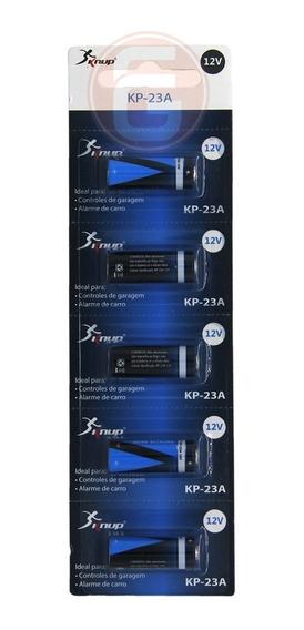Pilhas 23a 12v 1 Cartelas C/ 5 Unidades Original Knup