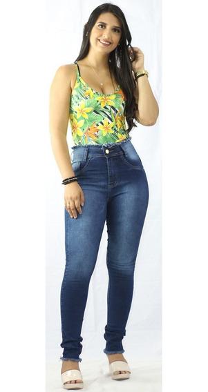 Kit 13 Calças Jeans Feminina Cintura Alta Hot Pant Com Lycra