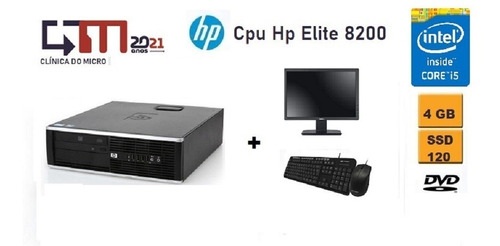 Hp 8200 Elite I5 4gb Ram 120gb Ssd + Monitor 18