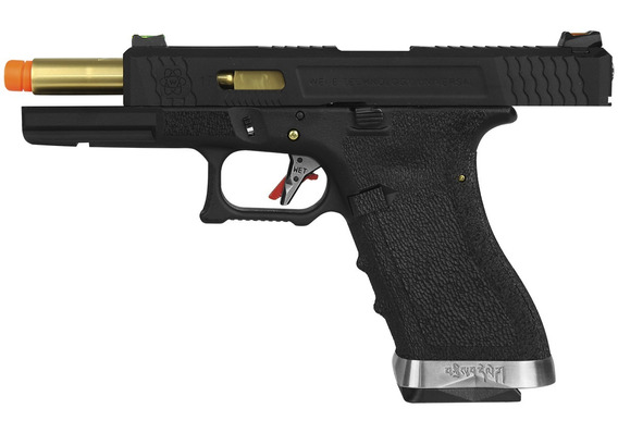 Pistola Airsoft Gás Gbb We Glock G17 Blowback Wet1 Metal 6mm
