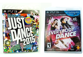 Kit Jogo Ps3 Just Dance 2015 + Everybody Dance Midia F. Nf