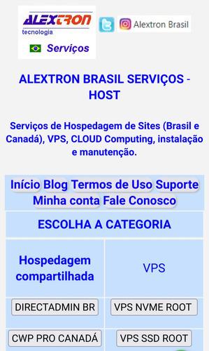 Alextron Brasil Serviços De Hospedagem De Sites