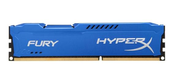 Memória Hyperx Fury 8gb 2x4gb 1600mhz Ddr3 Cl10