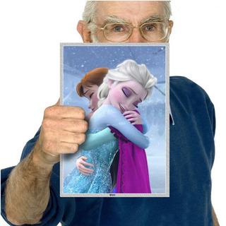 Poster Para Festa Tema Frozen Uma Aventura Congelante A4 04