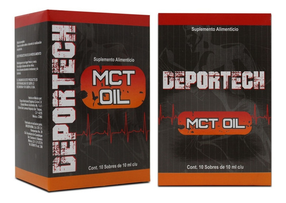 Deportech Mct Oil - 10 Sobres De 10ml
