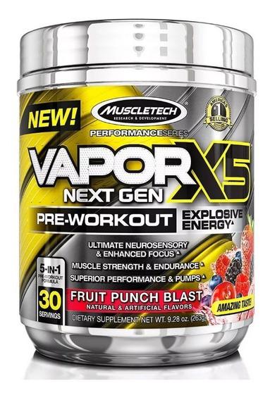 Vapor X5 Next Gen Muscletech 30 Servicios Pre Entreno