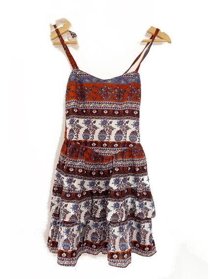 Zara Vestido Mujer, Volados Corto, Ideal Verano! Importado