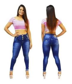 Calça Jeans Via7 Hot Pants Cintura Alta Levanta Bumbum 10327