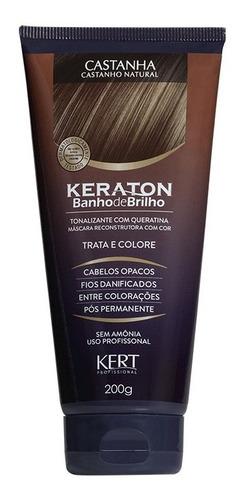 Imagem 1 de 1 de Keraton Banho De Brilho - Castanha 200g