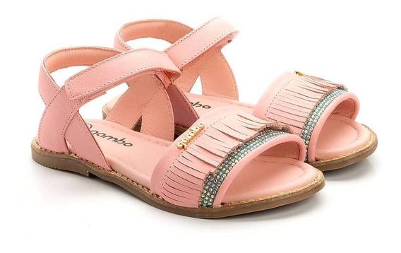 Sandália Infantil Franjas Pink - Gambo