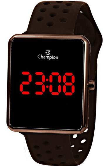 Relógio Champion Feminino Led Digital Chocolate Ch40081m