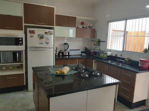 Imagem 1 de 19 de Casa Toda Planejada 250m² 3 Dorms 1 Suíte 3 Vagas Área Gourmet - V5496