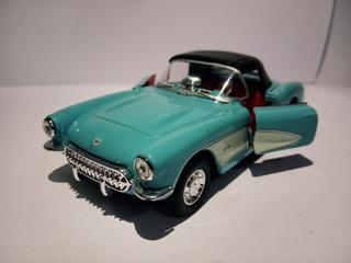 Miniatura Chevrolet Corvette 1957 - Azul Aço - 1/18