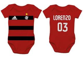 Body De Bebê - Flamengo - Personalização Do Nome