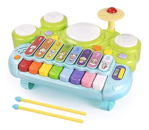 Juguete Goodway Musical Niños 3 En 1 Piano Teclado Tambor