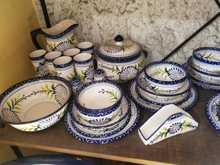 Vajilla Talavera 64 Piezas Talavera Decorada Artesanal